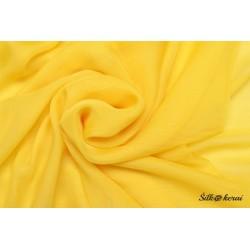 Audinys natūralaus šilko - geltonos spalvos