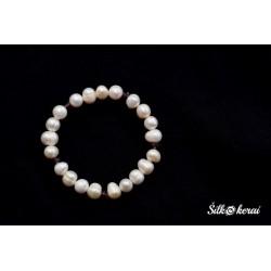 Perlų apyrankė su Swarovski kristalais